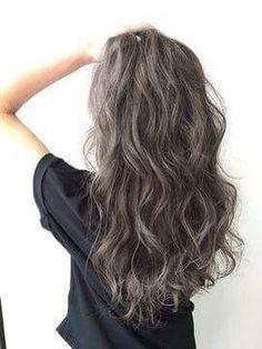 Permed Hairstyles, Cool Hairstyles, Gray Hair Highlights, Curly Hair Styles, Natural Hair Styles, Hair Arrange, My Hairstyle, Grunge Hair, Mi Long