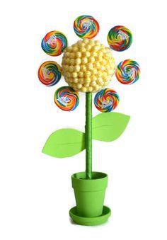 Large Flower Lollipop Candy Topiary Custom by EdibleWeddings, $59.99