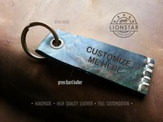 R04 LIONSTARS Leather Keychain man gift husband by THELIONSTARS