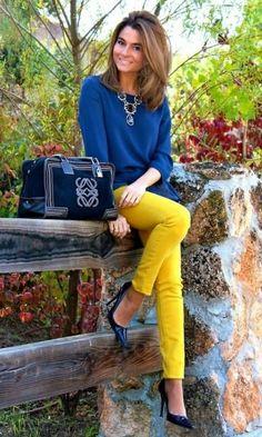 Look Azul + Amarelo