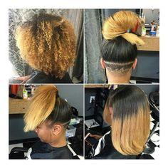 Silk Press on Natural Hair: Hair length goalsss Curly Hair Styles, Natural Hair Styles, Undercut Natural Hair, Pelo Afro, Pelo Natural, Hair Laid, Ombre Hair Color, Natural Hair Journey, Love Hair
