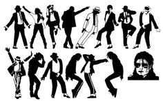Michael Jackson Dancing Silhouette Pack - Free Vector Site | Download Free Vector Art, Graphics