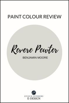 Benjamin Moore Revere Pewter - One of the BEST warm gray paint colours! Partner Post to The Best Benjamin Moore Gray Paint Colours As you can imagine, most of Sherwin Williams Revere Pewter, Revere Pewter Paint, Revere Pewter Benjamin Moore, Benjamin Moore Colors, Benjamin Moore Paint, Paint Color Combos, Grey Paint Colors, Paint Colors For Home, Warm Gray Paint