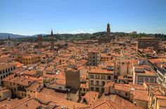 Cityscape of Florence, Italy, seen from Giotto's Campanile.