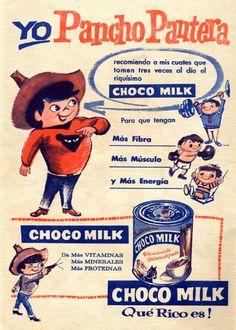 """Anuncio en Revista del Chocolate en Polvo """"Choco Milk"""""""