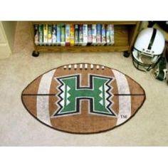 """Hawaii Warriors Football Rug 22""""x35"""""""