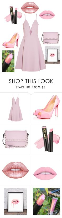 """Pucker up pink lips"" by rebeccalgibson ❤ liked on Polyvore featuring beauty, Giambattista Valli, Privé, Valentino, L.A. Girl and Lime Crime"
