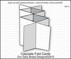 Pre cut CASCADE FOLD CARDS (6 for $7.95)