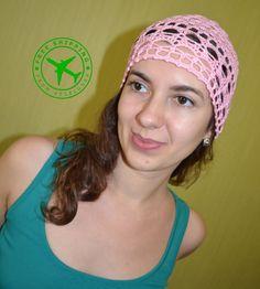 Crochet beanie. Pink crochet women's beanie. Summer crochet  beanie. Lacy beanie. 100 % cotton beanie. Beanie hat. Yarn beanie. Beanie cap. - pinned by pin4etsy.com