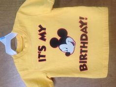 Personalized Mickey birthday shirt :)