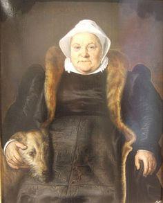 Portrait de dame âgée, dit La femme du fauconnier - Floris de Vriendt, dit Frans Floris (1558) huile sur bois - Musée des Beaux-arts de Caen  Ce tableau constitue l'une des deux parties d'une commande passée à Floris : il s'agit de la représentation de la femme dans le portrait double d'un couple. Le portrait du mari, Le fauconnier est conservé aujourd'hui au Herzog Anton Ulrich Museum de Brunswick. Le mari et la femme ont été peints en 1558 sur bois sur des supports de dimensions similaires