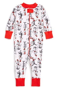 Hanna Andersson 'Dr. Seuss' Organic Cotton Fitted One-Piece Fitted Pajamas (Baby Boys) available at #Nordstrom