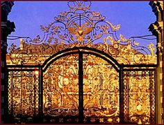 Catherine Palace gate, St. Petersburg, Russia.  (Catherine II  The Great)   Tzars summer home