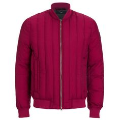 Paul Smith Jeans Men's Down Filled Bomber Jacket - Damsen ($155) ❤ liked on Polyvore featuring men's fashion, men's clothing, men's outerwear, men's jackets, burgundy, mens burgundy jacket, mens jackets, mens down filled jackets and mens blouson jacket