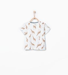 Imagem 2 de T-shirt estampado girafas da Zara