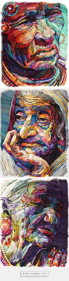 New Quilled Paper Portraits That Highlight the Beauty of Old Age by Yulia Brodskaya   Colossal - created via https://pinthemall.net