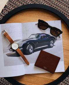 """Our """"just popping to the pub"""" kit. - Sunglasses watch wallet available now via the link in bio. Minimal Fashion, Minimal Style, Mr Porter, High End Fashion, Black And Brown, Fashion Accessories, Mens Sunglasses, Kit, Mens Fashion"""