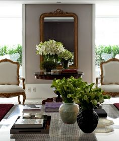 Flowers in chic interior