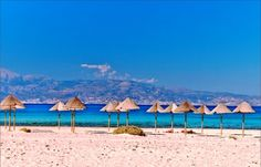 Greece is a place of stunning natural beauty. But most of all, it hosts some of the most beautiful beaches of the World. Mykonos, Santorini, Greek Cruise, Places In Greece, Crete Island, Exotic Beaches, Most Beautiful Beaches, Greek Islands, The Good Place