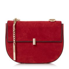 DUNE ACCESSORIES EVITA - Snake Chain Mini Saddle Bag - red | Dune Shoes Online