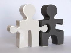 Puzzle People Salt & Pepper Shaker Set $45.00