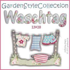 1) WASCHTAG Stickdatei 13x18 - ginihouse3