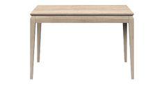 Oak table AVANGARDE, colour: Pure. www.miloni.pl/en MILONI: wooden table, oak table, natural wood table, table design, furniture design, modern table
