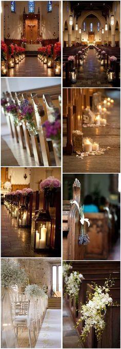 Hochzeitszeremonie - Deko Ideen #hochzeit #hochzeitszeremonie #kirche #kirchendeko #hochzeitsdeko