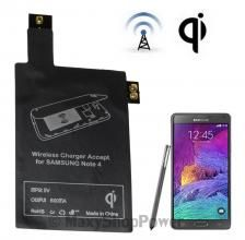 QI RICEVITORE WIRELESS CHARGING RECEIVER 600mA SAMSUNG GALAXY NOTE 4 N910 NUOVO NEW - SU WWW.MAXYSHOPPOWER.COM