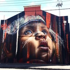 Visit all of Adante's public Aboriginal portrait murals that can be found throughout Australia and Singapore Street Art Banksy, Street Art News, Street Artists, Graffiti Artwork, Mural Art, Wall Art, Street Art Melbourne, Self Portrait Art, Installation Art