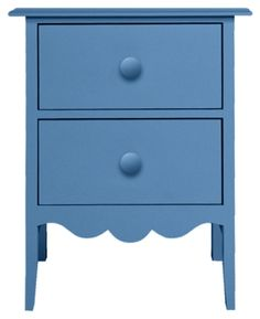 Nellie 2 Drawer Bedside Table in French Blue | Maine Cottage #colorfulfuniture