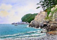 몰운대 72.7 x 53.0cm watercolor dn ppaper watercolor by Jung in sung