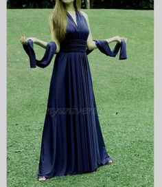 Navy Blue Wedding Dress Bridesmaid Dress Wrap by myuniverse, $99.00