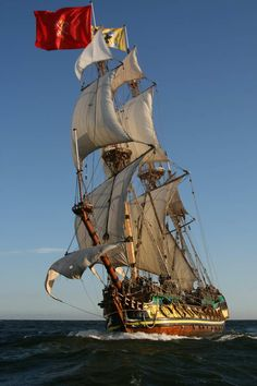 PIRATE SHIP... flying the red flag - no quarter, a fight to the death! GENTLEMAN OF FORTUNE http://amzn.to/1gtdWaG
