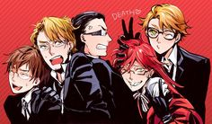Black butler, Kuroshitsuji, Grell Sutcliff, Ronald Knox, William T. Spears, Alan Humphries, Eric Slingby