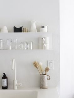 how to style your open kitchen shelving - the purist | via coco+kelley