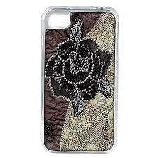 NEW DEBBIE BROOKS IPHONE 4 4S CLEAR COVER BLACK ICE ROSE FLOWER CASE SWAROVSKI #DEBBIEBROOKS