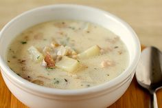 New England Clam Chowder Made 6/2015 added a whole pint of heavy cream, used salt potatoes instead of red, added- small can of vegetable broth and made a roux with flour and butter using a 1/4 c of each and added that at toward the end and let it simmer. It came out very good!
