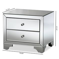 stunning white lacquer nightstand furniture. Baxton Studio Farrah Hollywood Regency Glamour Style Mirrored 2-Drawer Nightstand - RXF-782 Stunning White Lacquer Furniture S