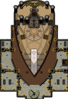 Homebrewing system Orzhov Church - Al - homebrewing Dungeon Tiles, Dungeon Maps, Dungeons And Dragons Homebrew, D&d Dungeons And Dragons, Dwarven City, Fantasy City Map, Pathfinder Maps, Rpg Map, Map Layout