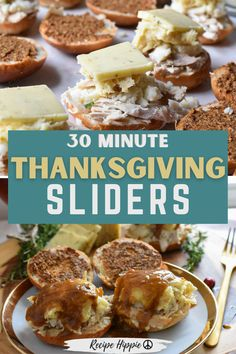 These delicious thanksgiving sliders are SO good you guys! And they are so easy! Just stack your thanksgiving leftovers on a dinner roll, pop it in the oven and pour gravy over the top! I dare say, they might be better than thanksgiving dinner! If you are looking for a thanksgiving leftovers recipe that everyone will love, this is the turkey sandwich for you! Vegetarian Christmas Recipes, Thanksgiving Leftover Recipes, Thanksgiving Leftovers, Thanksgiving Ideas, Fall Recipes, Holiday Recipes, Freezable Meal Prep, Vegan Meal Prep, Easy Meal Prep