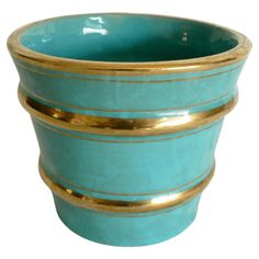 Turquoise & Gold Pottery #huntersalley