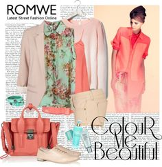 """Romwe - SHIRT FEVER"" by ana2cats on Polyvore"