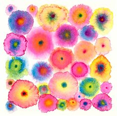 Pink Large Abstract Print Canvas - Circles - Flowers - Colorful - Blooms 2 Pink - Ltd Edition Arte Elemental, Classe D'art, Arte Fashion, Floral Fashion, Chiaroscuro, Abstract Flowers, Watercolor Flowers, Blue Abstract, Painting Flowers