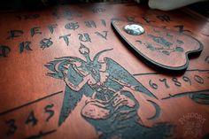 Baphomet, Ouija, Wood Engraving, Boards, Hand Painted, Shop, Red, Handmade, Etsy