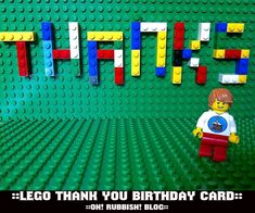 Lego Thank you Cards :: Birthday Party Thank You Templates :: Lego Free Printables :: oh! rubbish! blog