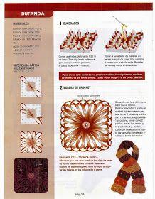 como hacer minitelar cuadrado - Revistas de manualidades gratis Loom Flowers, Color Bordo, Loom Knitting, Lana, Weaving, Wraps, Diy, Album, Fruit