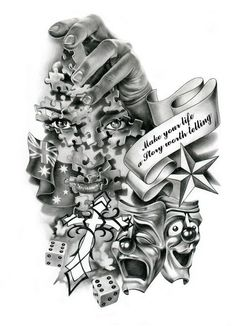 black and white tattoo drawings Baby Tattoos, Body Art Tattoos, Sleeve Tattoos, 4 Tattoo, Tattoo Drawings, Tattoo Flash, Small Tattoo, Alice In Wonderland Steampunk, Angel Devil Tattoo