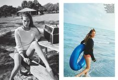The Life Aquatic editorial in Teen Vogue, produced by us in Miami Matteo Montanari, Life Aquatic, Teen Vogue, Miami Beach, Palm Trees, Polaroid Film, Outdoor Decor, Beautiful, Editorial