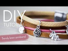 Sieraden maken met Kralenwinkel Online - Trendy armband met leer - YouTube